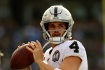 Mike Mayock says he's 'very happy with Derek Carr'