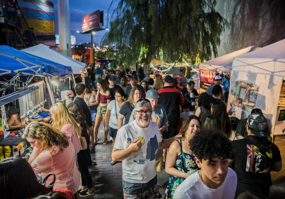 """The streets in the Arts District are packed during First Friday's """"Beat Street"""" event ..."""