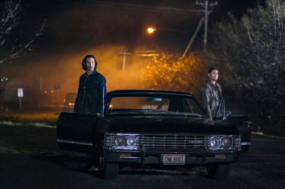 """Supernatural -- """"The Heroes' Journey."""" From left, Jared Padalecki as Sam and Jensen Ackles as D ..."""