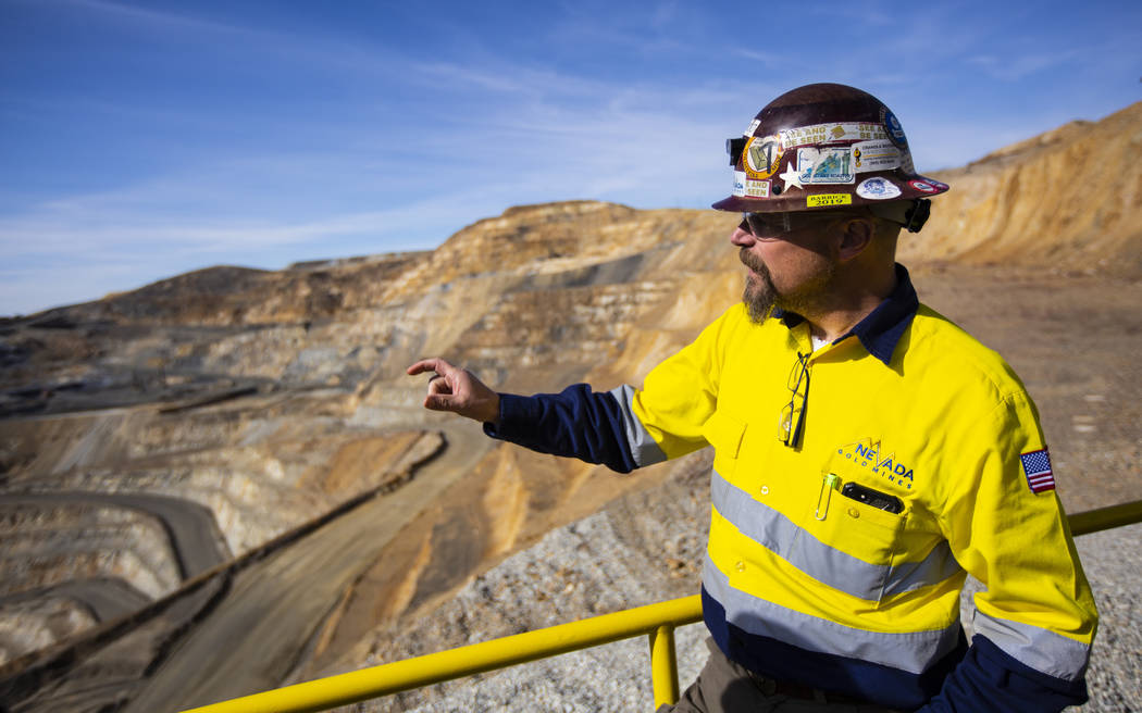 Paul Wilmot, general manager of surface operations for Nevada Gold Mines' Carlin operation, loo ...