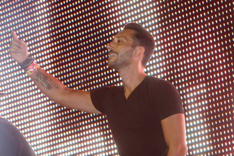 Cedric Gervais performs at the Ultra Music Festival at Bayfront Park, on Sunday, March 30, 201 ...