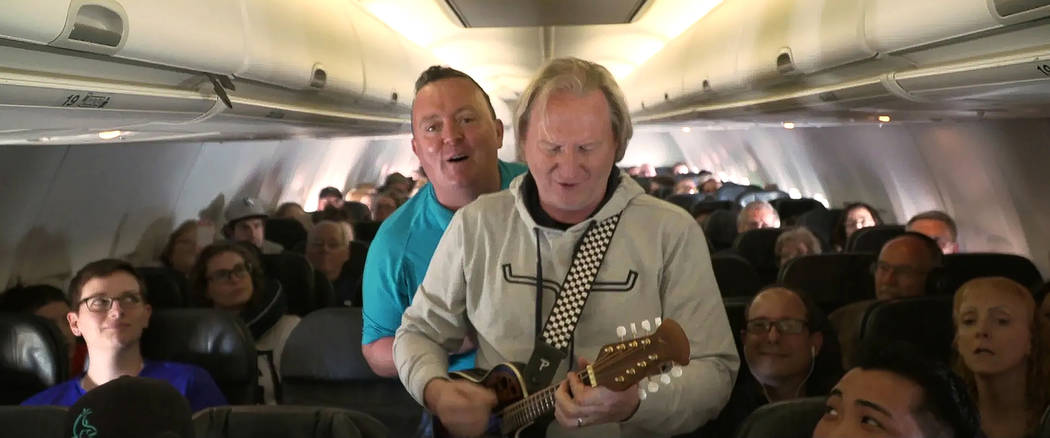 From correctional facilities to nursing homes to airplanes, the duo played just about anywhere ...
