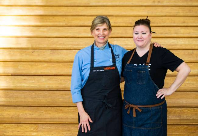 Mary Sue Milliken, chef and co-owner of Border Grill, left, with chef Nicole Brisson, who opene ...
