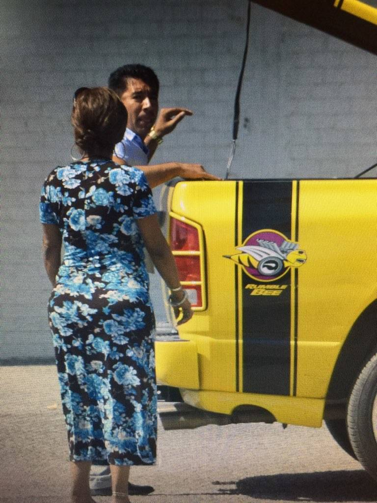 In an undated photo, Adolfo Orozco is seen in the parking lot of the Alpine Motel Apartments in ...