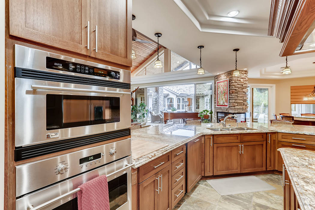 The kitchen has upgraded appliances. (Berkshire Hathaway HomeServices)