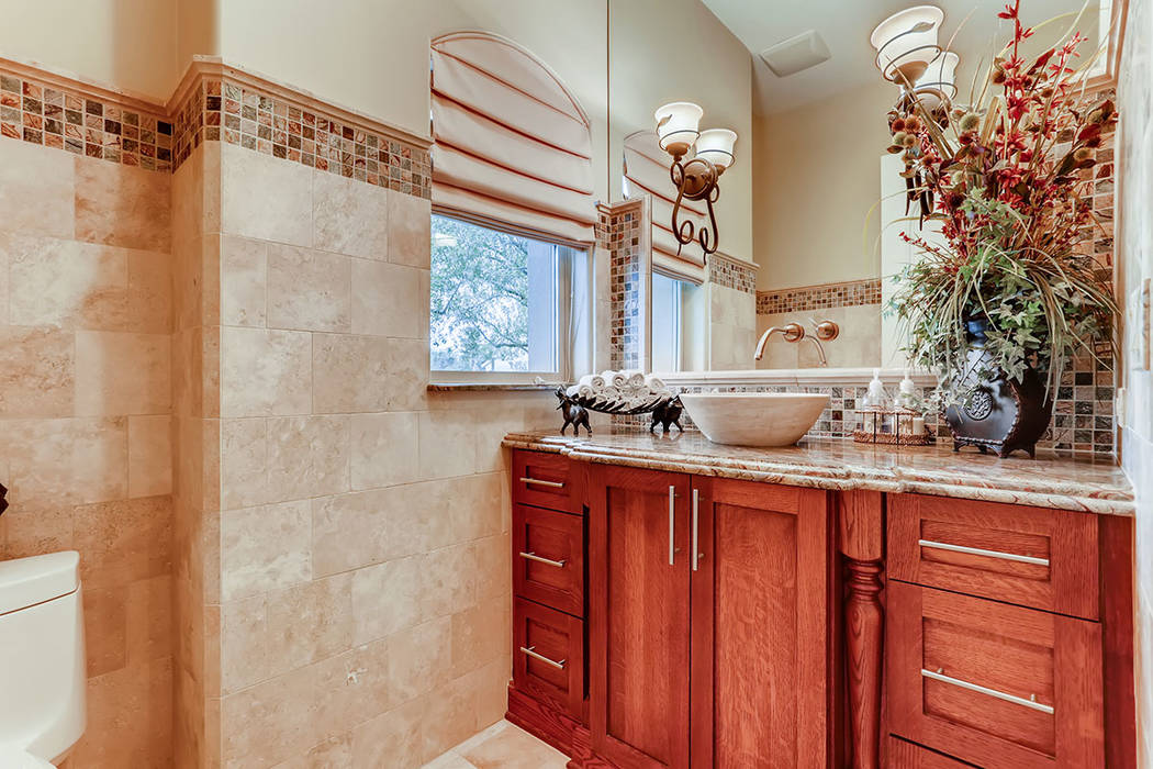 One of five baths in the main house. (Berkshire Hathaway HomeServices)