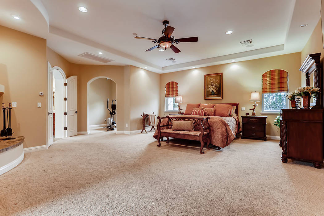 The master bedroom in the main house. (Berkshire Hathaway HomeServices)