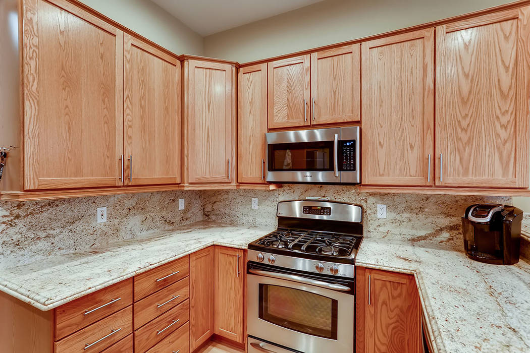The guesthouse has a full kitchen. (Berkshire Hathaway HomeServices)
