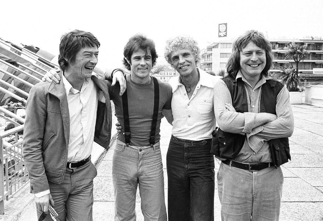 "from left: John Hurt, Brad Davis, Billy Hayes and ""Midnight Express"" director Alan Parker a ..."