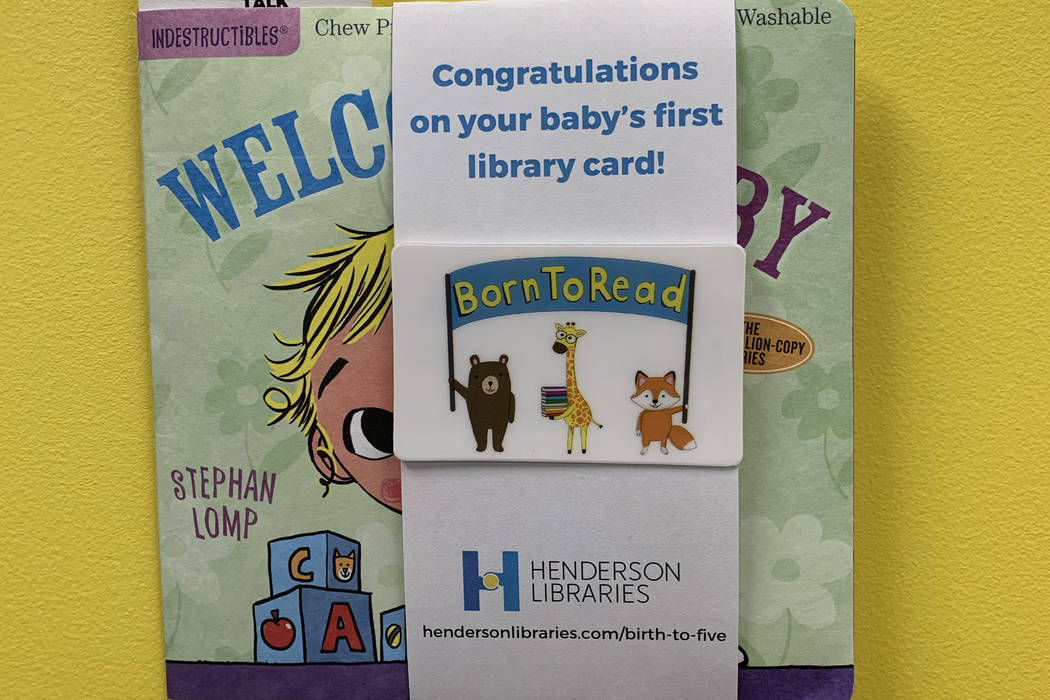 Henderson Libraries will give a children's book and library card to each baby born at Henderson ...