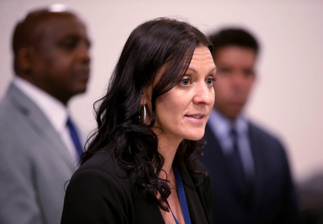 Kimberly Hertin, Southern Nevada Health District disease surveillance supervisor, talks about t ...