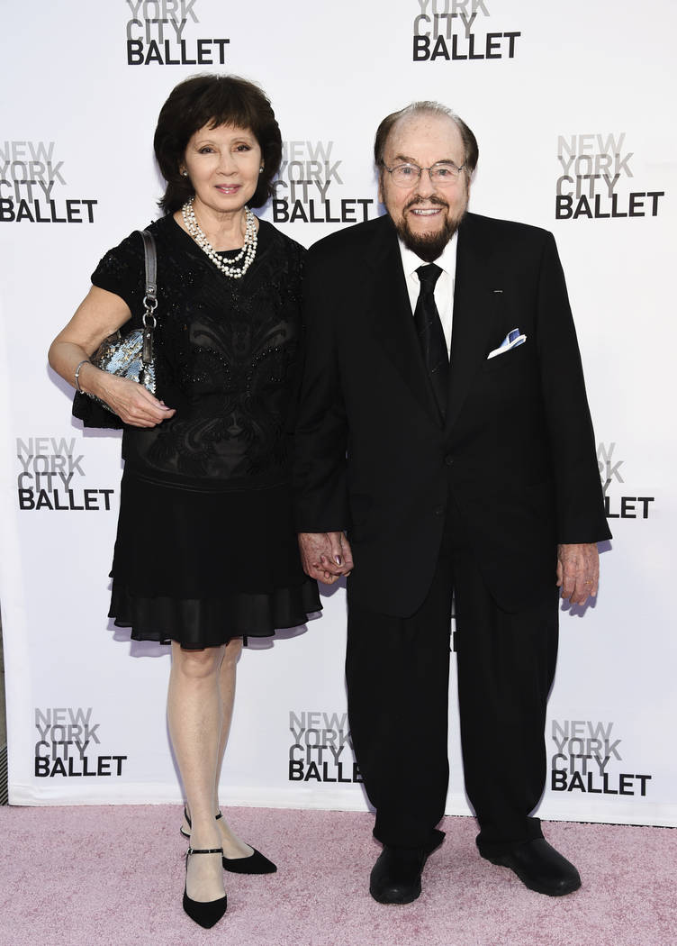 FILE - This Sept. 28, 2017 file photo shows James Lipton, right, and his wife Kedakai at the Ne ...