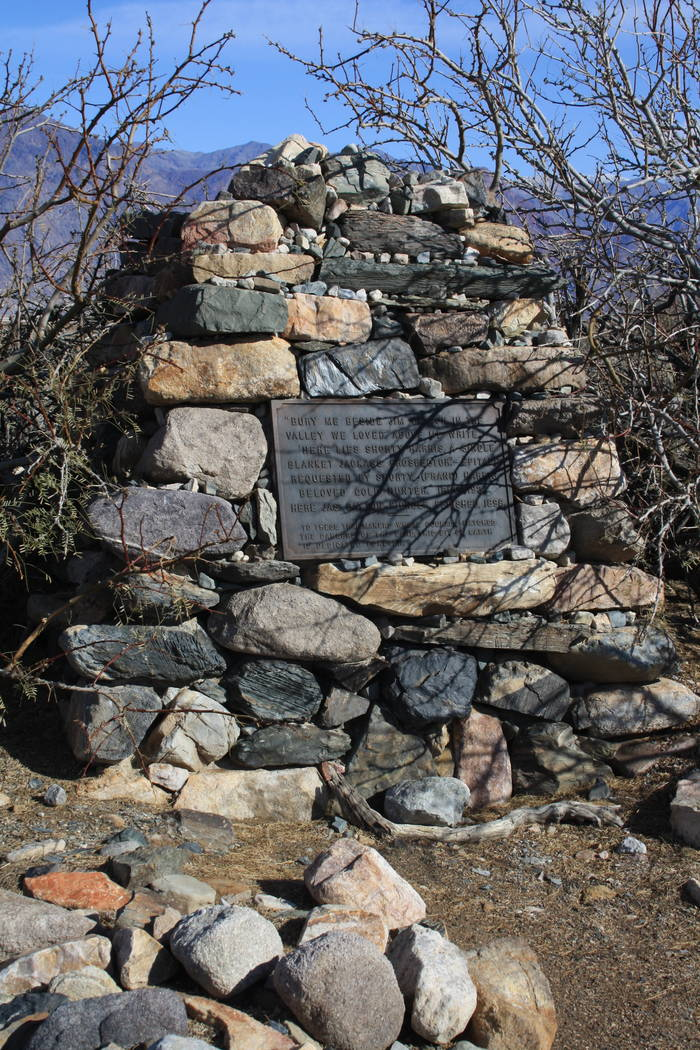 Along West Side Road you will find the headstone of legendary prospector, Shorty Harris who was ...