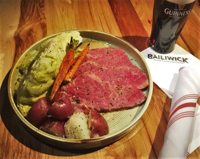 The corned beef and cabbage special at Bailiwick. (Boyd Gaming)