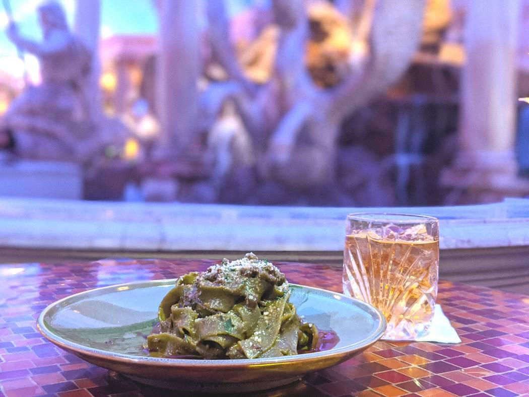 Pistachio Pappardelle with Lamb Ragu at Trevi. (Trevi Italian Restaurant)