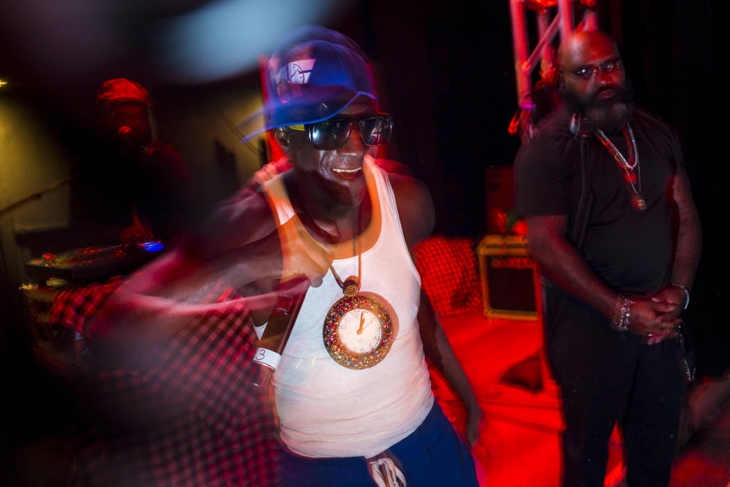 Entertainer Flavor Flav performs during the Jack Daniel's House No. 7, a pop-up experience at t ...