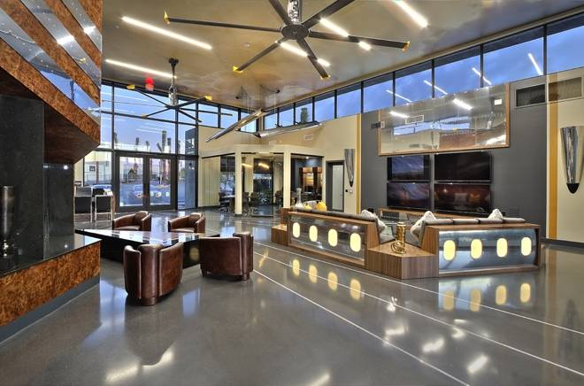 The Aviator apartment community is inspired by antique airplane designs, with a clubhouse that ...