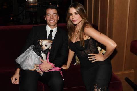 Manolo Gonzalez Vergara and actress Sofia Vergara attend NoMad Las Vegas' celebration of their ...