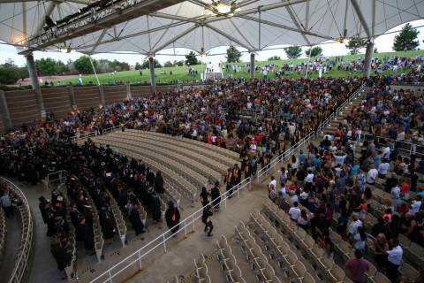 The Henderson Pavilion is shown on Friday, May 5, 2017, during Nevada State College commencemen ...