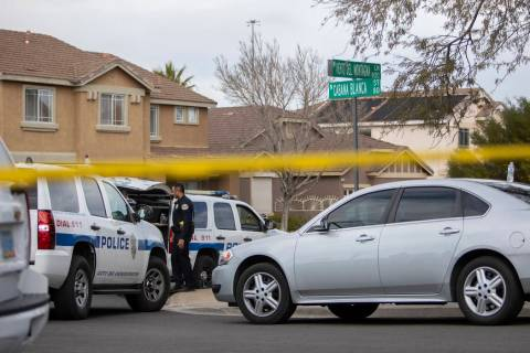 """An """"officer-involved"""" shooting occurred near Cabana Blanca Street and Viento Del Mont ..."""