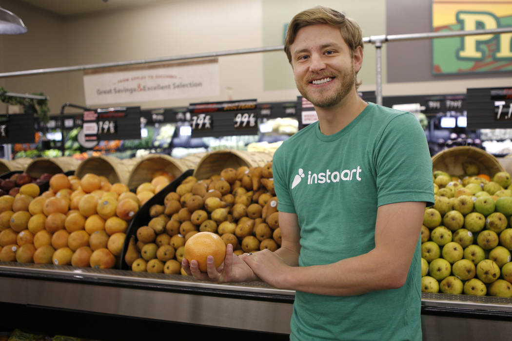 Instacart's Operations Manager David Holyoak at the Smart and Final grocery store located at 19 ...