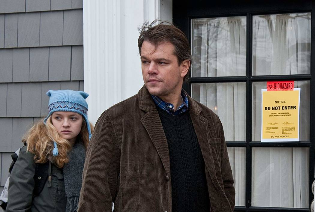 "Matt Damon and Anna Jacoby-Heron star in ""Contagion."" (Warner Bros. Entertainment)"