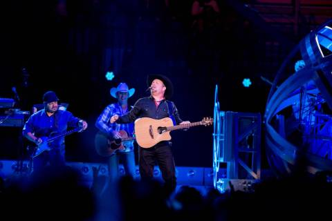 Country music star Garth Brooks, preforms at T-Mobile Arena Friday, June 24, 2016, in Las Vegas ...