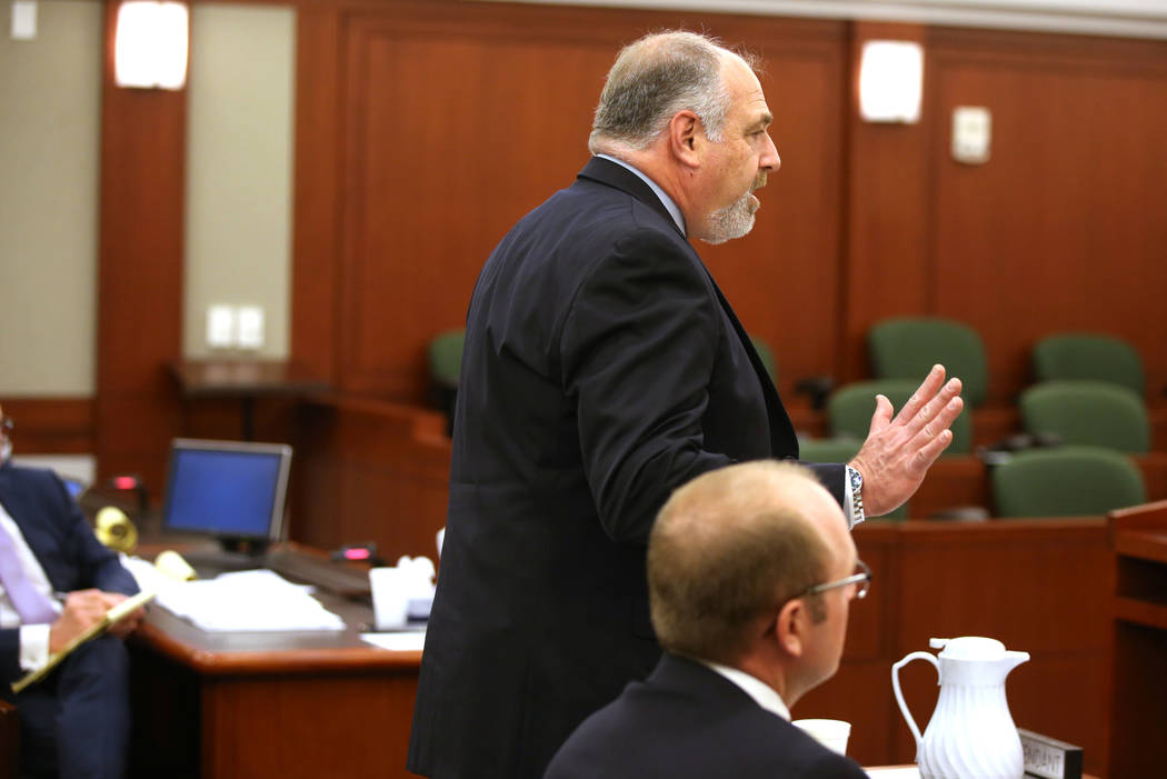 Steven Jaffe, attorney for Alpine Motel Apartments ownership, argues during a hearing at the Re ...