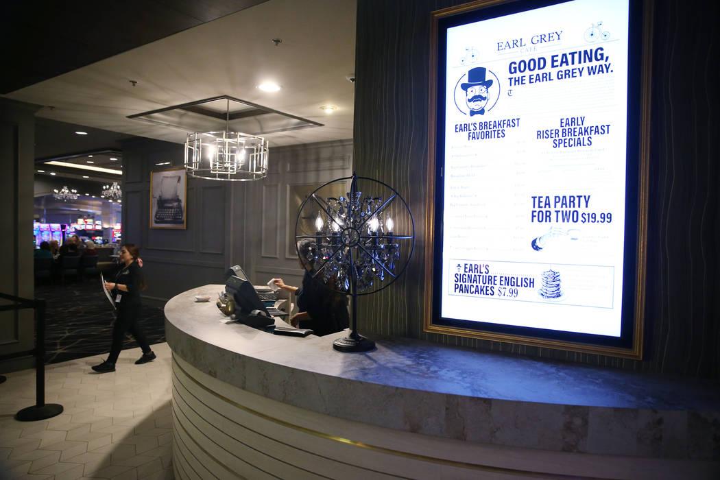 Earl Grey Cafe in the Rampart casino-hotel in Las Vegas, Wednesday, March 4, 2020. (Erik Verduz ...
