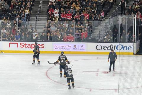 """The """"Have a Game Plan"""" campaign on display at T-Mobile Arena. (American Gaming Association)"""
