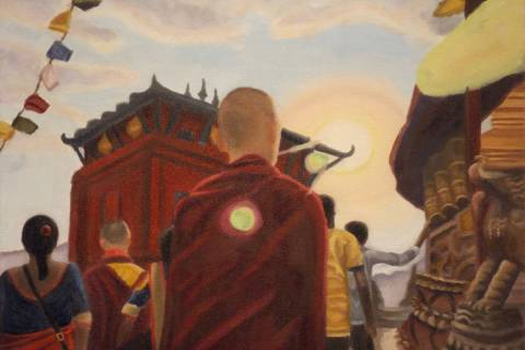 """""""Swayambhunath Stupa, Nepal"""" by Alina Lundquist"""