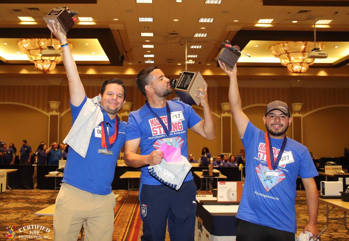 Andres and Adrian Gimenez and Marlon Carballo Cordova were winners in the Nevada State Apartmen ...