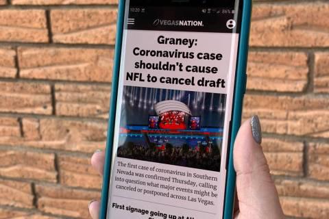 The Vegas Nation app (David Guzman/Las Vegas Review-Journal)