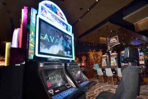 Avatar slot machines, produced by IGT, are shown Dec. 18, 2013, at the Aria. (Review-Journal fi ...
