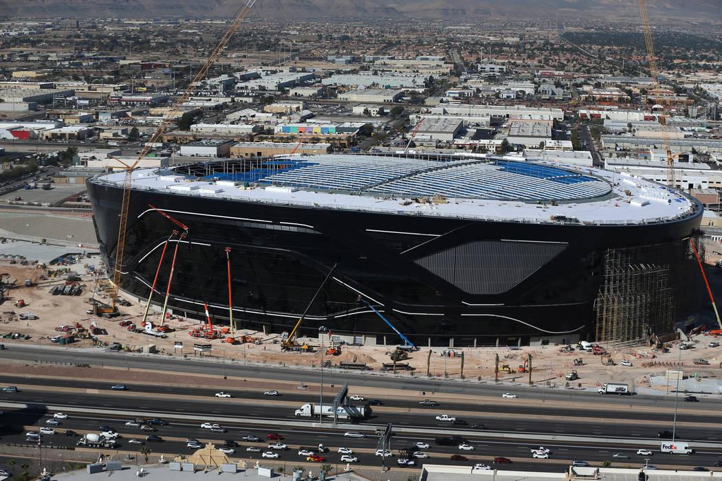 The Raiders Allegiant Stadium in Las Vegas, Thursday, March 5, 2020. (Erik Verduzco / Las Vegas ...