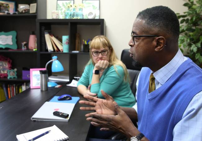 Gregg Ketter, a volunteer for Hope for Prisoners, speaks during an interview with the Review-Jo ...