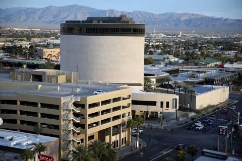 Zappos headquarters in downtown Las Vegas on Cyber Monday, Dec. 2, 2019. (K.M. Cannon/Las Vegas ...