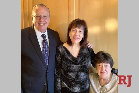 From left, Ron Griebell, daughter Susan Hahnenkratt and wife Sandra Hahnenkratt. (Courtesy)