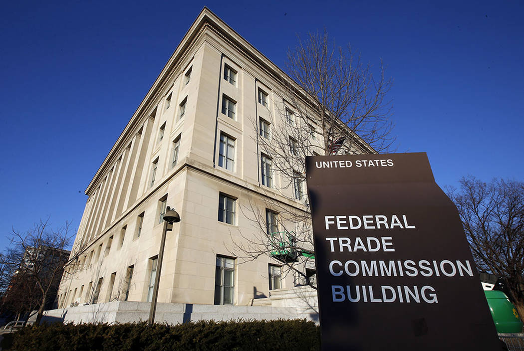 The Federal Trade Commission building in Washington. (AP Photo/Alex Brandon)