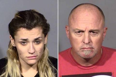 Tiffany Falsetti, left, and Tony Howard Morgan (Las Vegas Metropolitan Police Department)