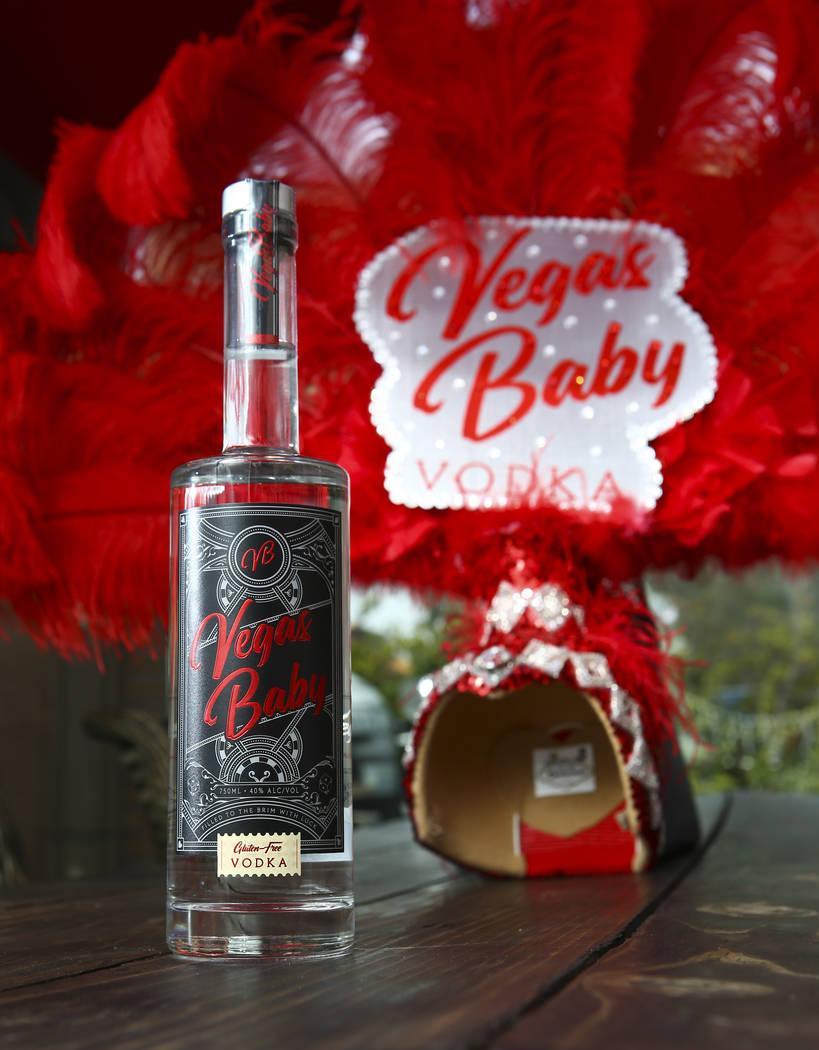 A bottle of Vegas Baby Vodka in Las Vegas on Friday, March 6, 2020. (Chase Stevens/Las Vegas Re ...