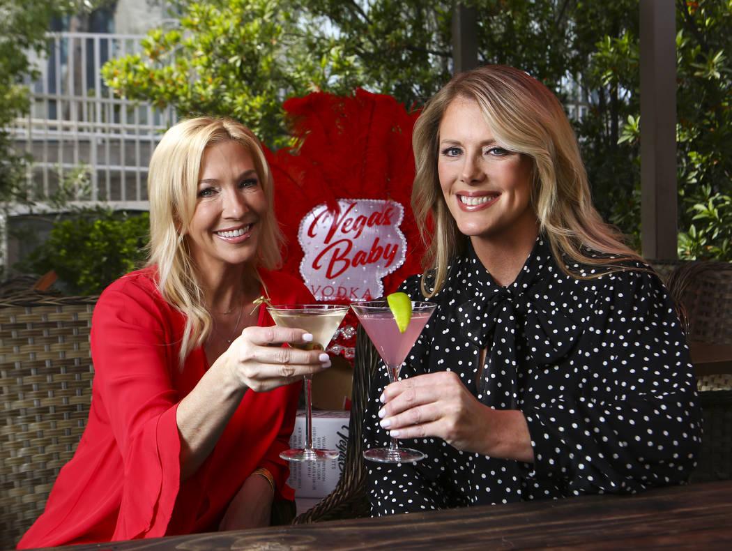 Vegas Baby Vodka co-founders Jennifer Higgins, left, and Megan Wilkes pose for a portrait in La ...