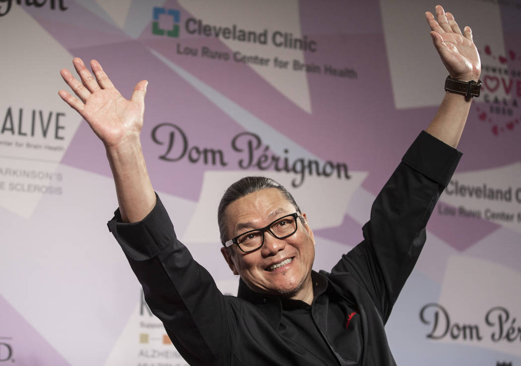 Chef Masaharu Morimoto walks the red carpet during the 24th Annual Power of Love Gala on Saturd ...