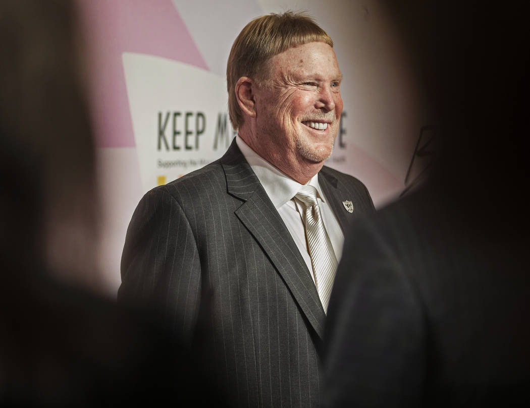Raiders owner Mark Davis walks the red carpet during the 24th Annual Power of Love Gala on Satu ...