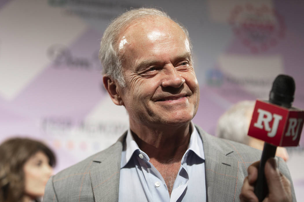 Kelsey Grammer talks with the media on the red carpet during the 24th Annual Power of Love Gala ...