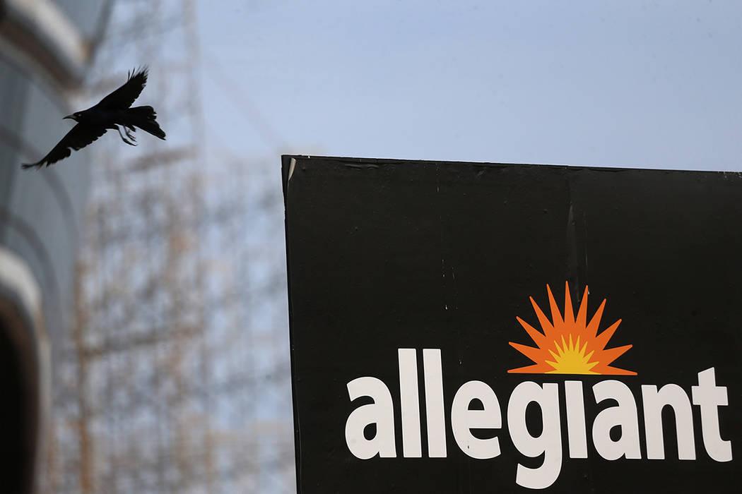 A bird flies in front of the Raiders Allegiant Stadium in Las Vegas, Saturday, March 7, 2020. ( ...