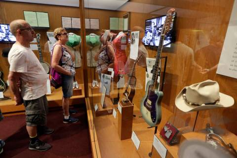 FILE - In this May 25, 2018 photo, visitors to the Country Music Hall of Fame and Museum in Nas ...