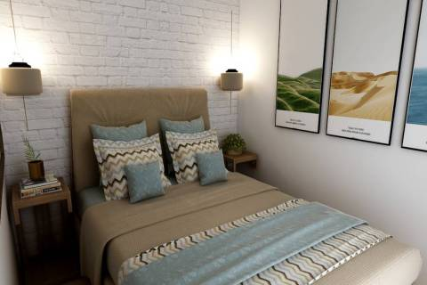 GMJ Interiors In a small bedroom, a full-size bed will give renters more space around the bed. ...