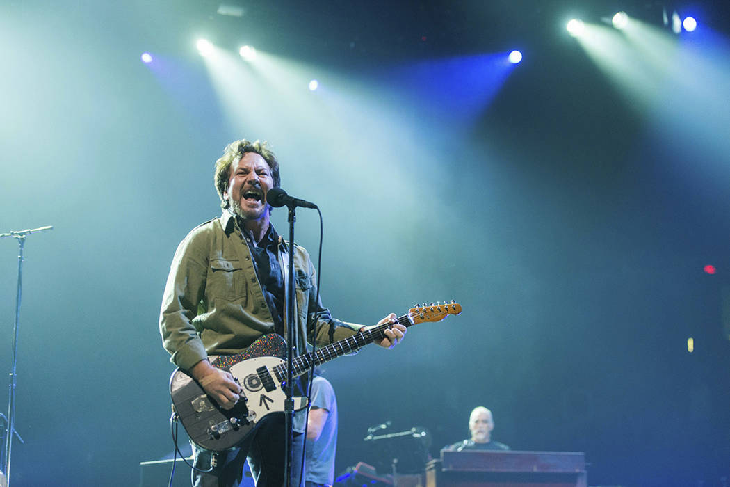 Eddie Vedder of Pearl Jam performs at the L.A. Sports Arena on Nov. 11, 2013 in Los Angeles. (P ...