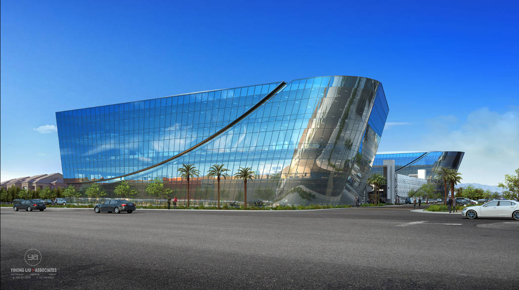Sansone Companies recently broke ground on an office complex called Axiom, a rendering of which ...